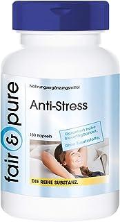 Anti-Stress - Complesso anti-stress - Con vitamine del gruppo B, Ginseng, Selenio, Taurina, ecc. - Elevata purezza - 180 C...