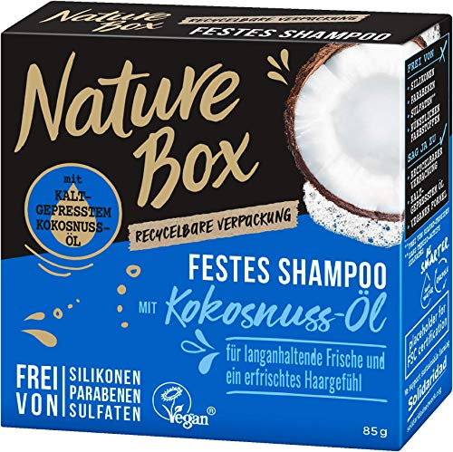 NATURE BOX Fest-Shampoo Kokosnuss-Öl, 1er Pack (1 x 85 g)
