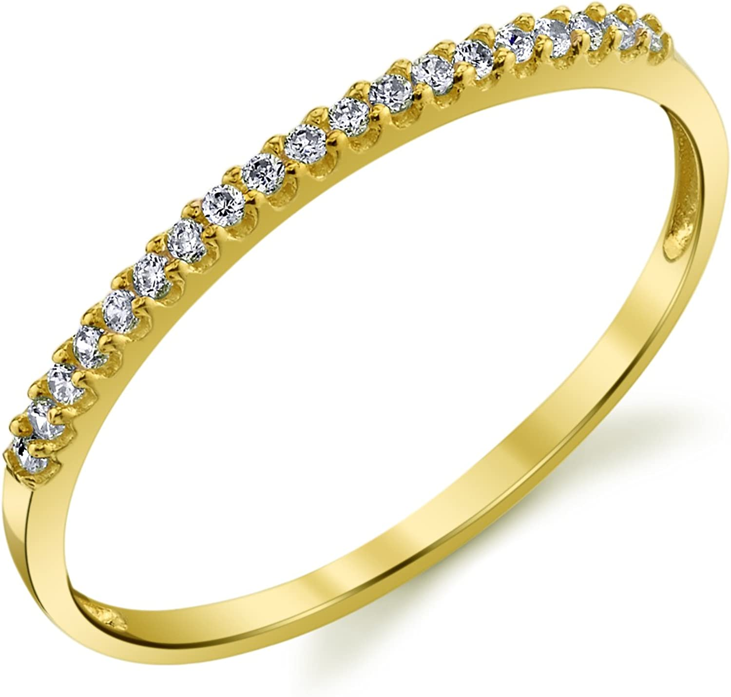 10k Yellow or White Max 52% Rapid rise OFF Rose Gold S Lightweight CZ Dainty Wedding