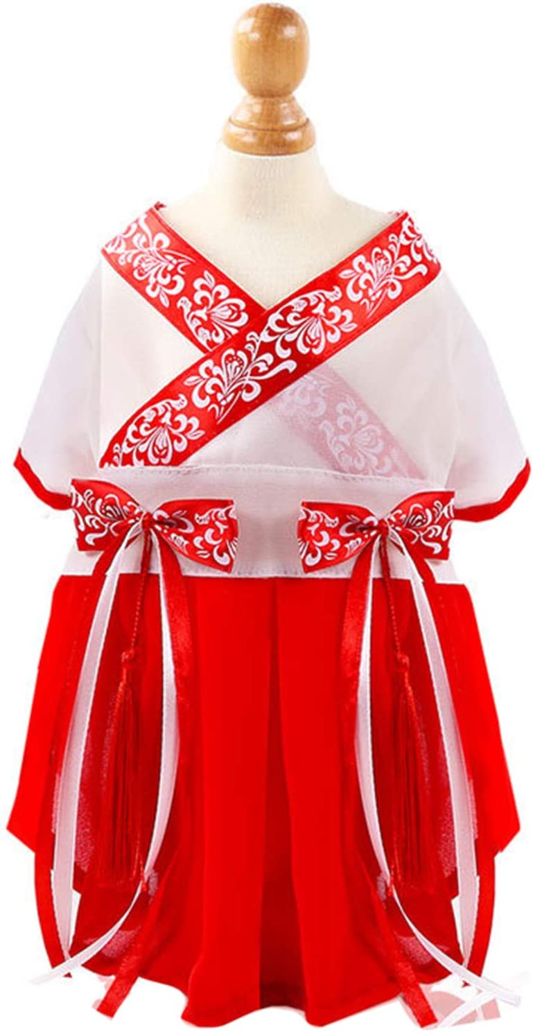HEART Selling and selling SPEAKER Chinese Style Cotton Two-Legged Ap Max 40% OFF Dog Pet Dresses