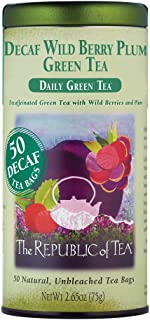 The Republic of Tea Decaf Wild Berry Plum Green Tea, 50 Tea Bags