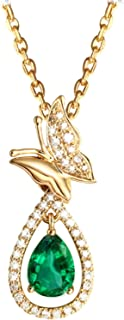 Jewelry 18K Gold Pendant Necklaces For Women Butterfly Holiday Elegant Chain Necklaces