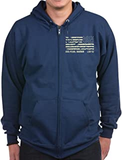 USS Pearl Harbor - Zip Hoodie, Classic Hooded Sweatshirt with Metal Zipper