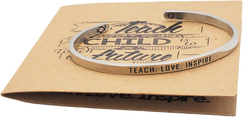 Quan Jewelry Teach Love Inspire Cuff Bracelet, Handmade Novelty