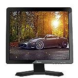 Eyoyo 15'Pulgadas 1024x768 1080P TFT LCD CCTV HDMI HD Pantalla de Color del Monitor con Entradas BNC/VGA/AV/HDMI/Salida del Auricular del USB,Altavoz Incorporado