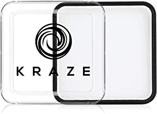 Kraze FX White Face Paint (25 gm) - Hypoallergenic, Non-Toxic, Water Activated Professional Face & Body Painting Makeup Supplies for Sensitive Skin, Kid Safe, Adults