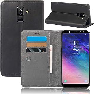 Samsung Galaxy A6 Plus 2018 シェル,パウチ カバー プレミアム PU レザー 財布 シェル カバー ?と キックスタンド クレジット カード スロット 現金 ホルダー フリップ カバー の Samsung Galaxy A6 Plus 2018