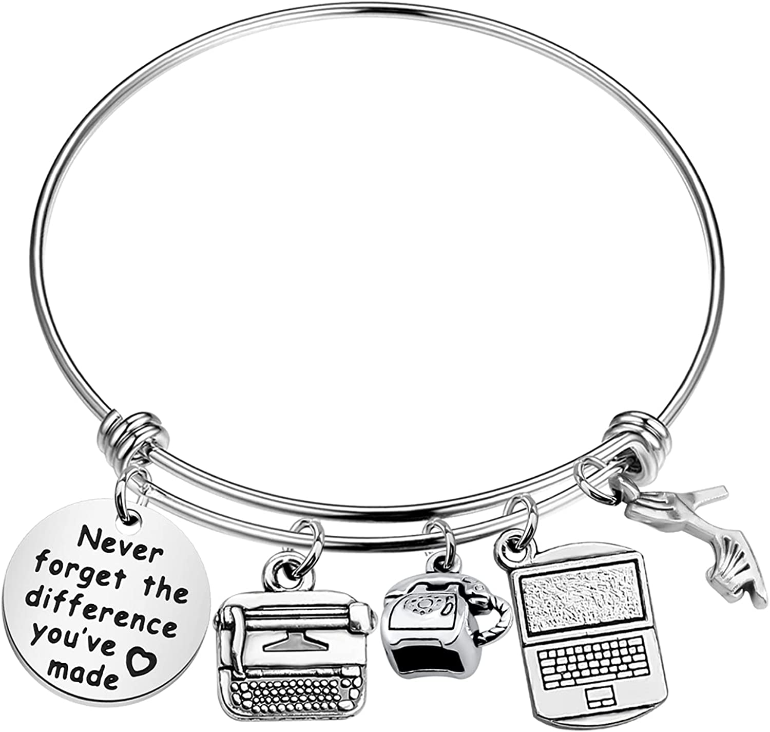 WSNANG Secretary Gift Administrative Never Assistant Year-end annual Bombing free shipping account Fo Bracelet