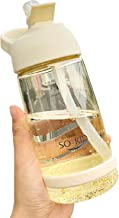 Water fles Meisjes 550 ml School Water Fles Met Stro Bpa Gratis Plastic Fles Voor Water Sport Drinkwater Fles