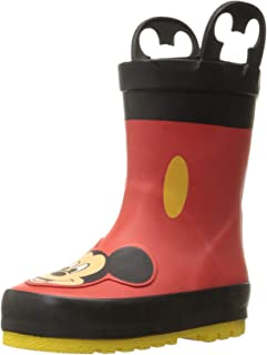 Kids' Waterproof Disney Character Rain Boots with Easy on Handles