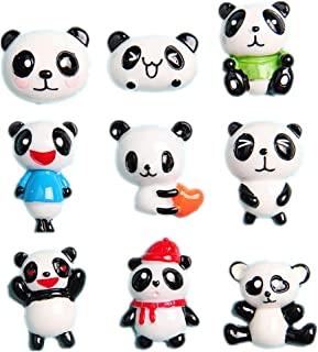 27 Pack Kawaii Giant Panda Slime Charms Panda Bear Animals Resin Flatback Beads for Miniature Fairy Garden Accessories Phone Case Scrapbooking Home Decor
