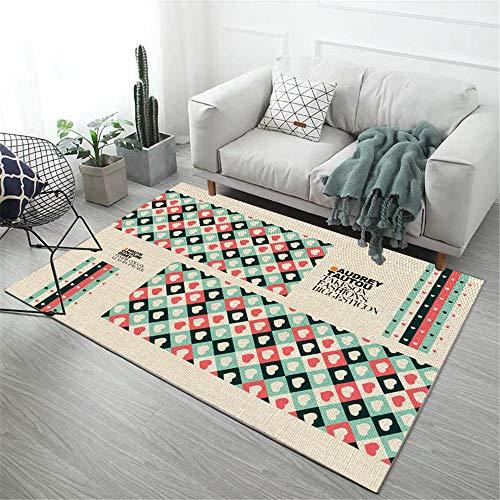 alfombras habitacion bebe alfombras infantiles grandes Alfombra rectangular moderna para salón, antideslizante, anticaída y resistente a la suciedad alfombras de pasillo 80X120CM 2ft 7.5'X3ft 11.2'