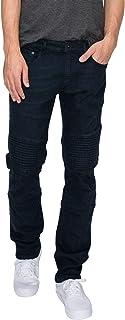 RING OF FIRE Men's Moto Slim Denim Stretch Jeans