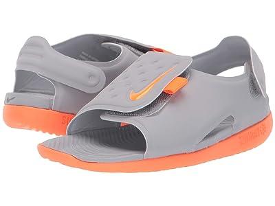 Nike Kids Sunray Adjust 5 (Infant/Toddler) (Wolf Grey/Total Orange) Boys Shoes