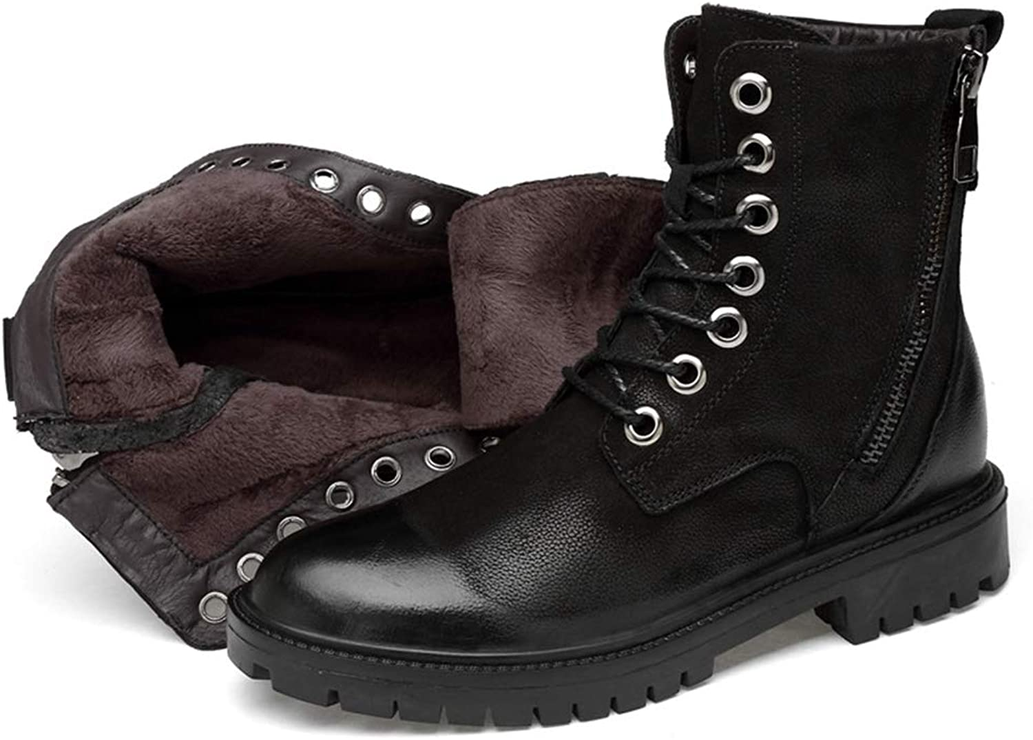 Phil Betty Mens Martin Boots Lace Up Round-Toe Warm Comfortable Casual Booties