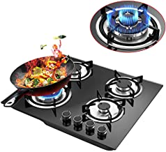20 x23 inch Built in Gas Cooktop,4 Burner GAS Cooktop Stove Cook Top with Tempered Glass,Cooktop Gas Hob For Kitchen