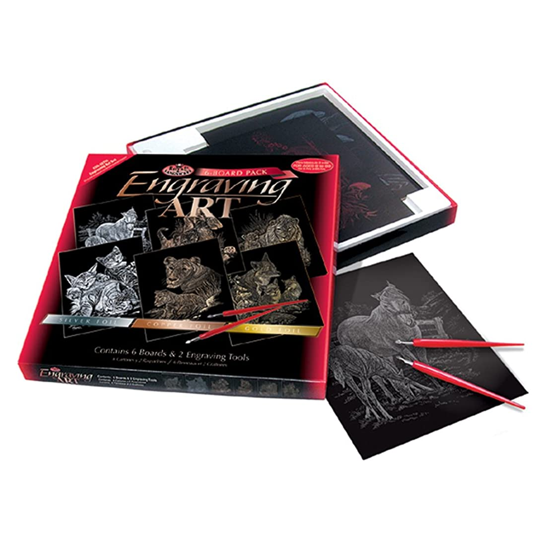 ROYAL BRUSH Langnickel 8-Inch by 10-Inch Foil Engraving Art Kit Value Pack, Tabby