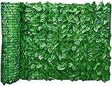 vallas para jardin 0.5x3m Hoja Artificial Jardín De Rollo De Rollo De Prueba De Investigación |Protección De Desvanecimiento De La UV Privacidad De La Valla Artificial Beautificación De La Pared Ivy F