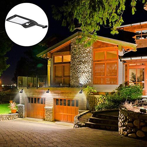SUNSEATON Buitenverlichting Op Zonne-energie, Buitenverlichting met 180 ° Rotatie, Draadloze IP65 Waterdicht, Voor Achtertuin, Veranda,enz.