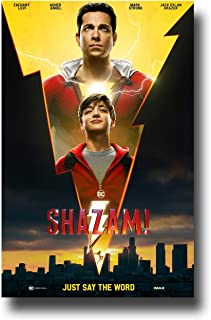 Shazam Poster Movie Promo 11 x 17 inches Electric Bolt Both
