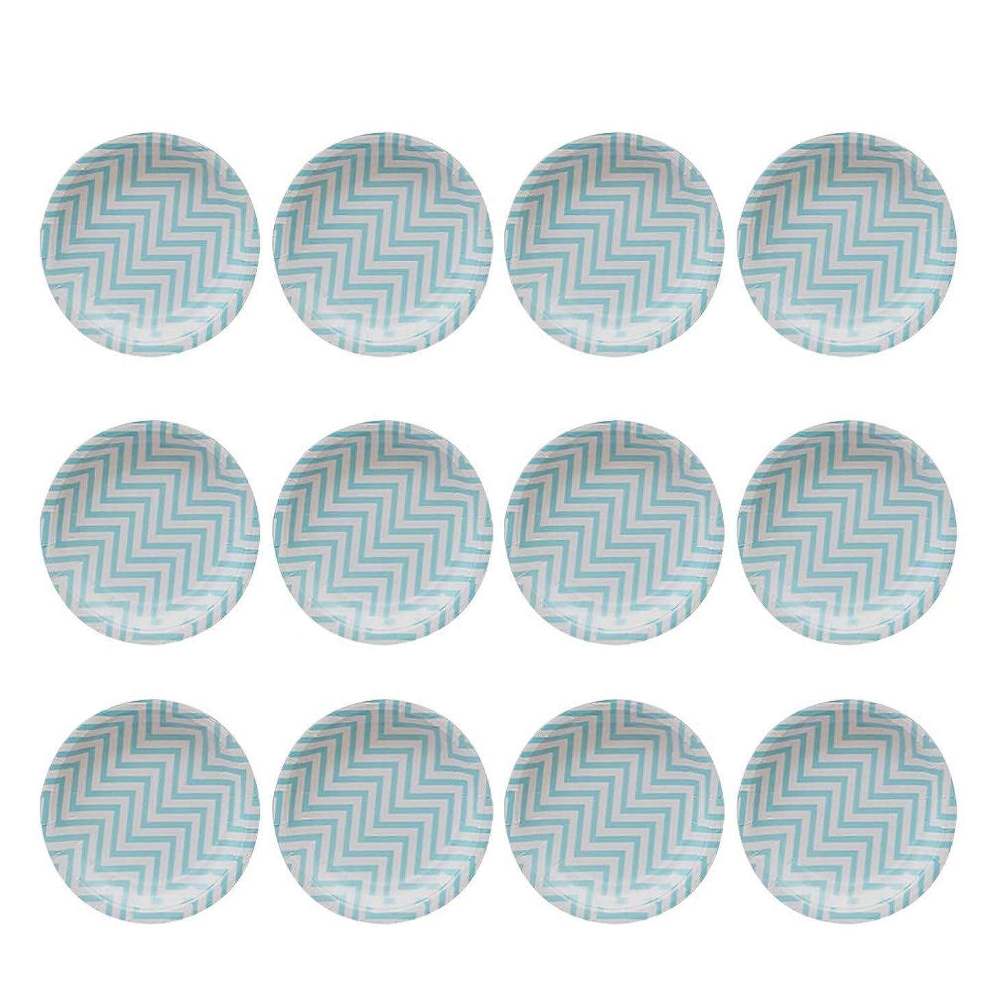 水平ヘビーエキスパートBESTOYARD ペーパープレート 紙皿 使い捨て食器 誕生日 パーティー ピクニック イベント用品 ケーキ おしゃれ 9インチ 12枚セット(ブルー)