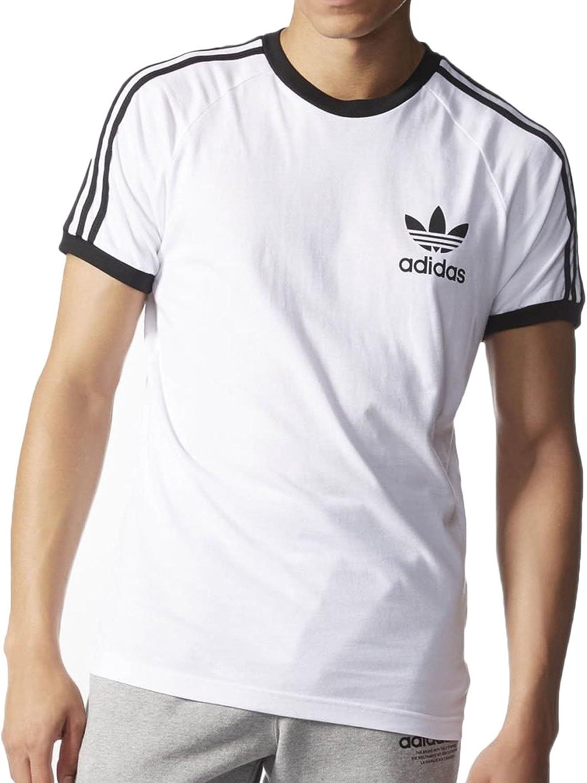 Jabón Empleador sueño  Amazon.com: adidas Originals Men's California Tee, Small, White: ADIDAS:  Clothing