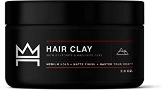 Hair Craft Co. Clay Pomade 2.8oz - Shine-Free Matte Finish - Medium Hold/Natural Look (Dense Clay) – Men's Styling Product...