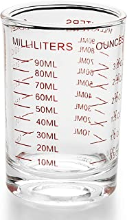Measuring Cup Shot Glass 3 Ounce/90ML Liquid Heavy Glass (1)