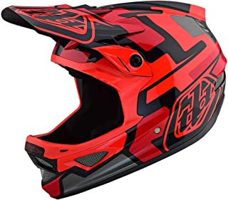 Troy Lee Designs Adult Full Face | BMX | Downhill | D3 Fiberlite Speedcode Mountain Biking Helmet with MIPS (Medium, Red)