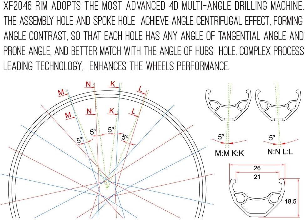 KZEE Bike Wheelset 26 Inch 29er Double Wall Aluminum Alloy Disc Brake Quick Release Hybrid//Mountain Sealed Bearings 8//9//10//11Speed Wheels