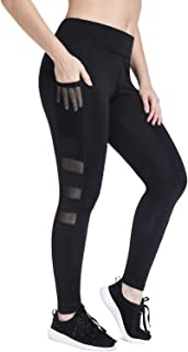 High Waist Cropped Leggings with Pocket for Women Running Workout Tights Slimming Gym Capri Pants