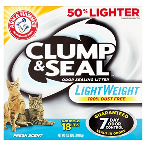 Arm & Hammer Clump & Seal Lightweight Litter, Fresh Scent 9 Lbs