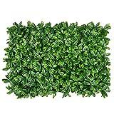 WAA 40X60CM Simulazione Pianta da Parete Prato Pianta Verde Sfondo Muro Prato Finto Decorazione da Parete in Plastica Greening Hanging Flower Art