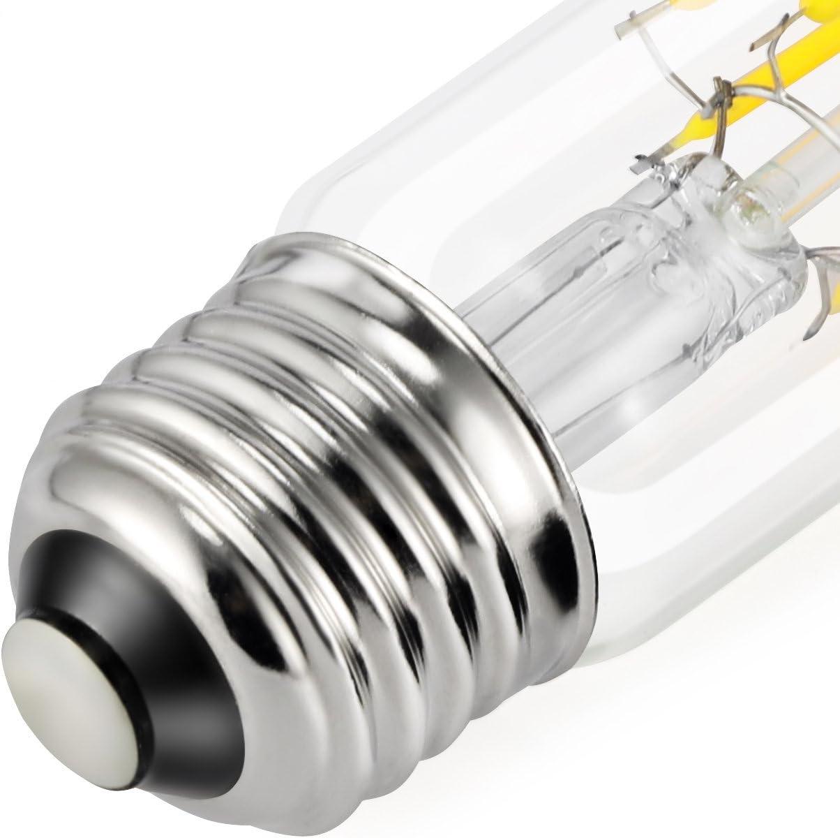 Filament E26 Base Lamp Kohree T10 Edison Led Bulb Daylight White 4000K 60W Equivalent Led Tubular Bulbs 6W Vintage Led Light Bulb Dimmable 3 Pack