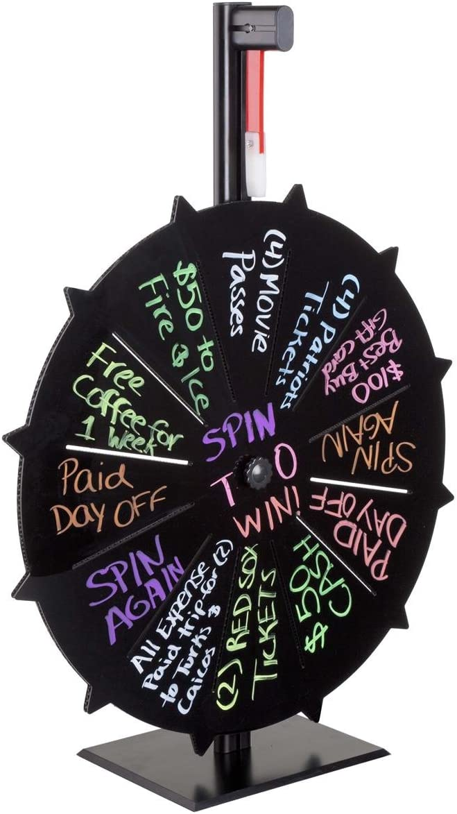 Displays2go Prize Wheel for Tabletop Max 45% OFF with Max 65% OFF 27 Use Slots 12