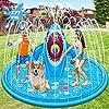 Chamsaler 噴水マット サメ噴水プール ビニールプール 夏の日 親子遊び 庭用 芝生遊び プールマット収納便利 滑ること防止 耐高温(177CM直径)