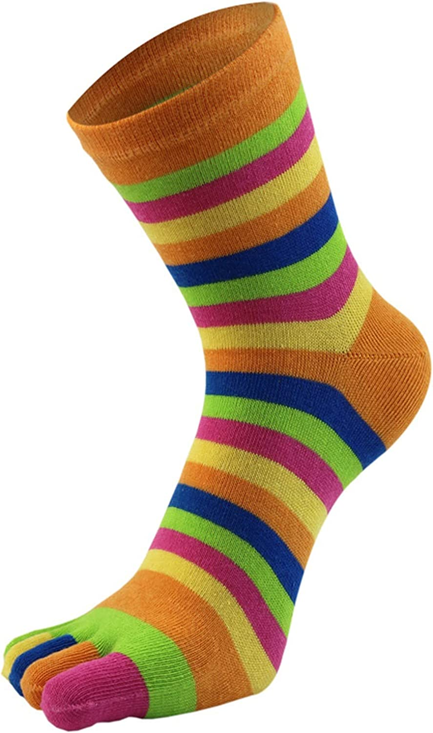 GXLONG Five Toe Socks Cotton Rainbo Challenge the lowest price of Japan ☆ Separated Today's only Colorful