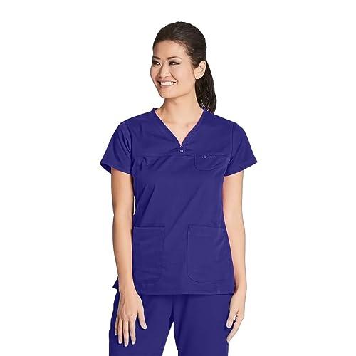 5d64dd89cb3 Grey's Anatomy Women's 41340 3 Pocket V-Neck Tonal Stitch Scrub Top