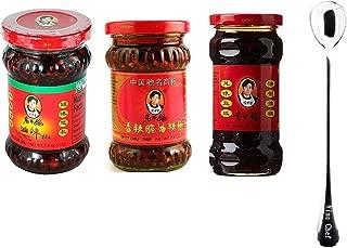 Lao Gan Ma Chili sauce Bundle 3 Flavor + Free One NineChef Spoon