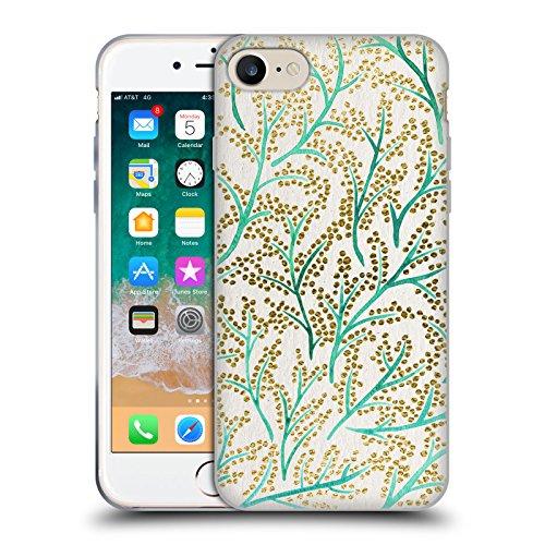 Head Case Designs Oficial Cat Coquillette Ramas de Oro Verde Patrones 3 Carcasa de Gel de Silicona Compatible con Apple iPhone 7 / iPhone 8 / iPhone SE 2020