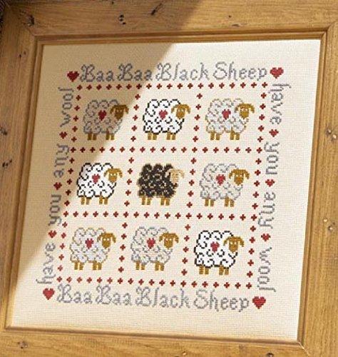 HS de punto de cruz de velas variadas - para punto de diseño de ovejas negras