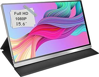 モバイルモニター モバイルディスプレイcocopar 15.6インチ スイッチ用モニター 非光沢IPSパネル 薄い 軽量 1920x1080FHD HDRモード/FreeSync対応/ブルーライト機能 USB Tpye-C/mini HDMI/カバー付 3年保証付 dg-156mx