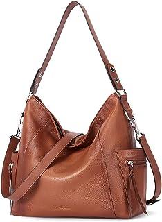 BOSTANTEN Damen-Handtasche aus Leder, Designer-Schultertasche, große Kapazität, modische Crossbody-Tasche für Damen, brau...