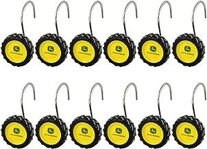 John Deere 12 Count Tire Shower Curtain Rings