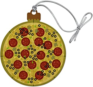 GRAPHICS & MORE Pepperoni Pizza with Cheese Olives Wood Christmas Tree Holiday Ornament