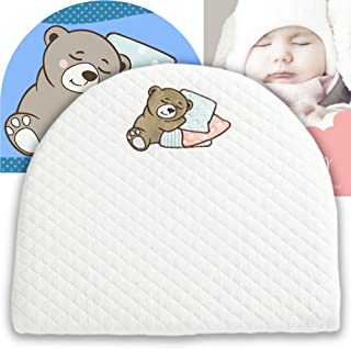 Bassinet Baby Wedge | Infant Wedge Pillow for Reflux Colic | Rounded Bassinet Wedge Sleep Positioner | Elevates Baby Incline Pillow | Tested Baby Safe Nursery Pillow | 13.8