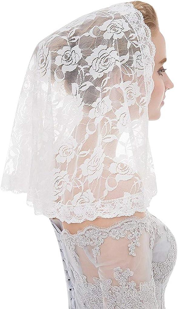 Black Lace Veil Wedding Cathedral Wedding Bride Halloween Gothic Costume Veil