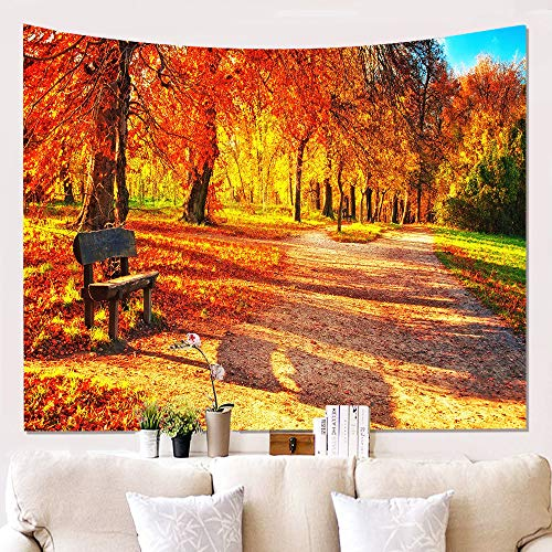 Generic Brands Forest Tapestry Autumn Fall Landscape Wall Hanging Background Cloth Hanging Painting Decorative Tapestries