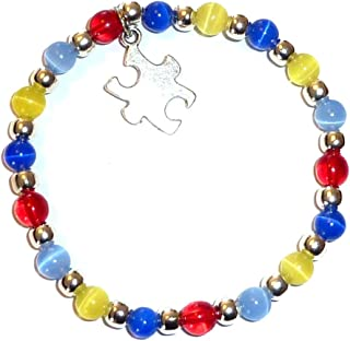 Autism Awareness Bracelet, Adult Size, Comes Packaged