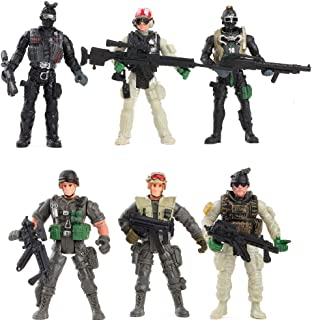 Warmtree 3.9 inch Elite Heroes Model Soldiers Action Figures Plastic Military Toys Gifts for Kids, Set of 6